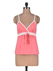 Pink Cotton Spandex Camisole - By