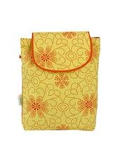 Orange Printed Canvas Sling Bag - By