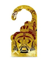 Yellow Printed MDF Door Hanger - Thin N Fat