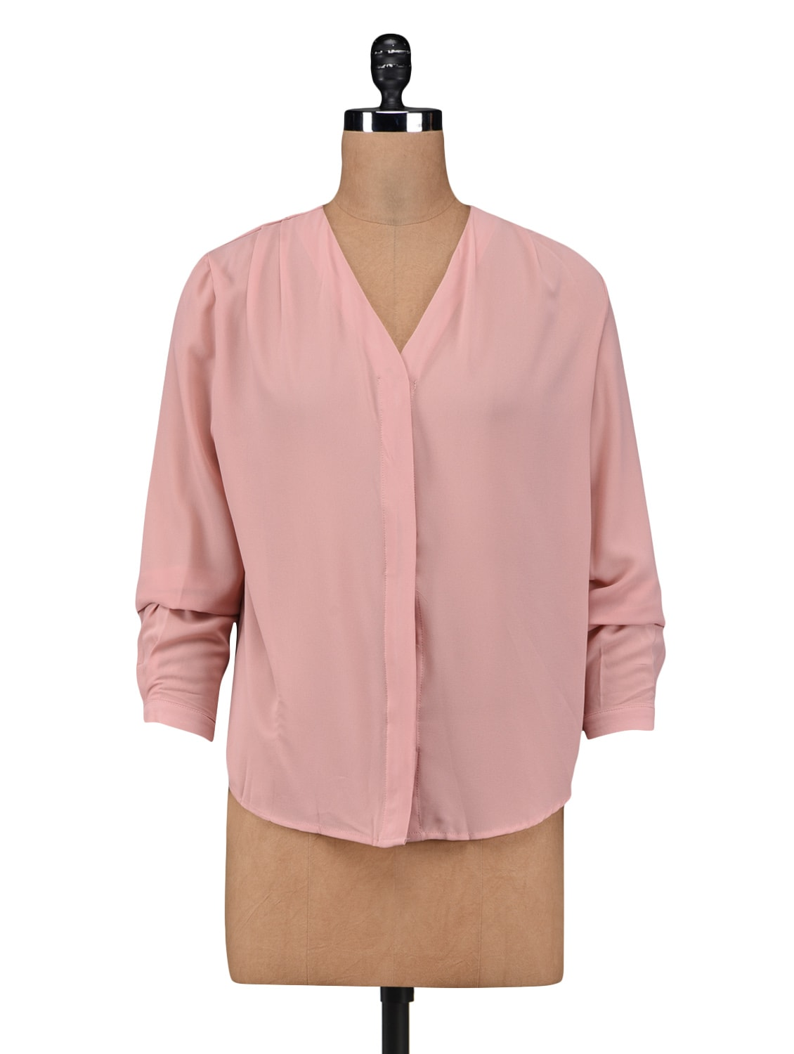 Light Pink Poly Georgette Shirt - By