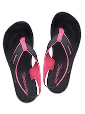 Black And Pink Rubber Sandals - By