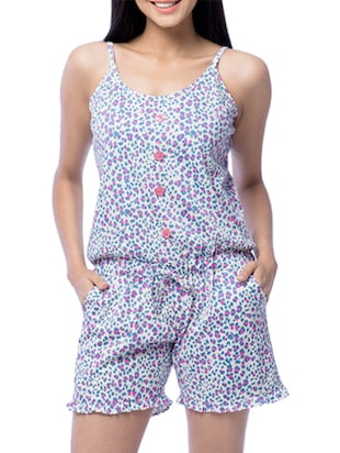 Multicolored Printed Cotton Jumpsuit
