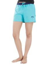 Light Blue Cotton Shorts - By