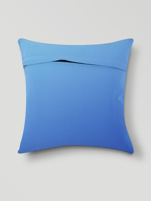Sky Blue Cotton & Polyester Print Cushion Cover - 1206447 - Standard Image - 2