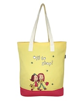 Yellow Canvas Medium Tote Bag - By