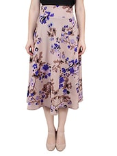 beige polyester flared skirts -  online shopping for Skirts