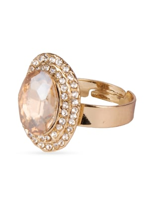gold alloy stone ring