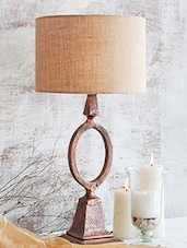 Copper Aluminum And Jute Table Lamp - By