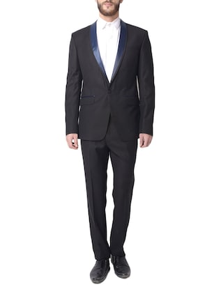 black color, cotton suit with jacket and pant