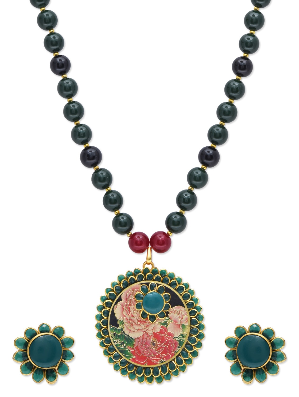 Multicolor Acrylic Metallic Jewellery Set - By