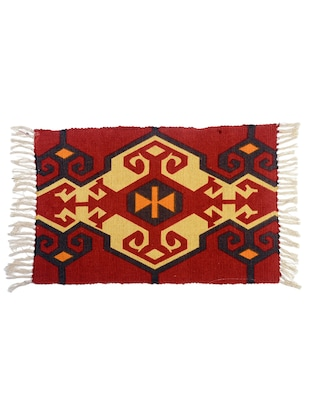 red cotton printed rug