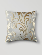 Cream Poly Cotton Set Of 5 Cushion Covers - By