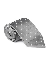 grey color, silk neck- tie -  online shopping for Ties