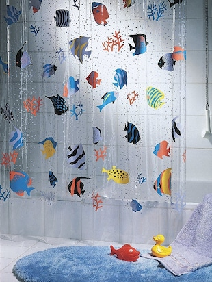 Multicolor printed PVC 1 piece shower curtain