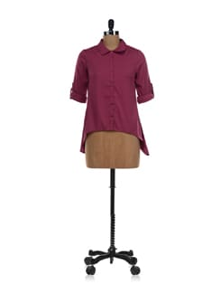 Purple-pink Asymmetric Shirt - NUN
