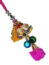 Multicolour Bead Worked Metallic Lumba - By