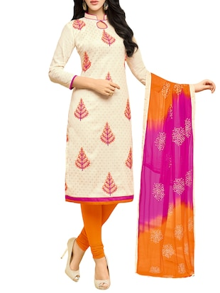 beige churidaar suits dress material
