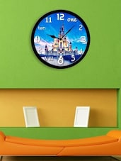 Blue Plastic Analogy Wall Clock - By