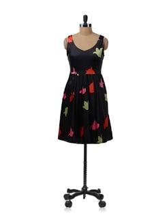 Black Pleated Dress - NUN