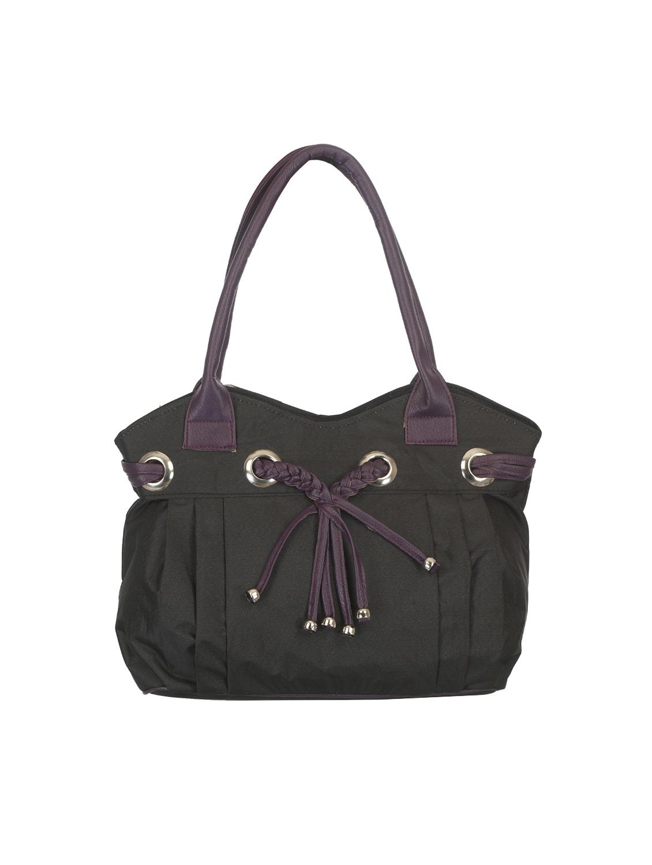 3ffe3093033a Buy Black Canvas Regular Handbag by Noble Designs - Online shopping ...