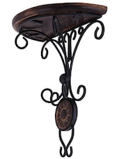 Desi Karigar (Heavy Iron)Beautiful wood & wrought iron Fancy wall bracket -  online shopping for wooden furniture