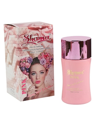 SHAMA Pink Series Alcohol Free, Undiluted Perfume for Women,100 ml Bottle - (Brand Outlet)