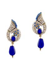 Blue Brass Drop Earring - By