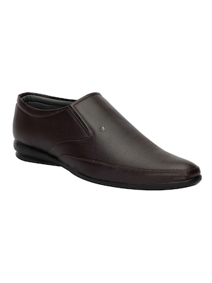 brown Leatherette slip on