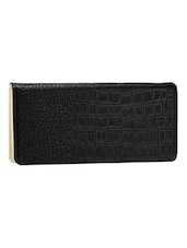 Textured Black Leatherette Wallet - By