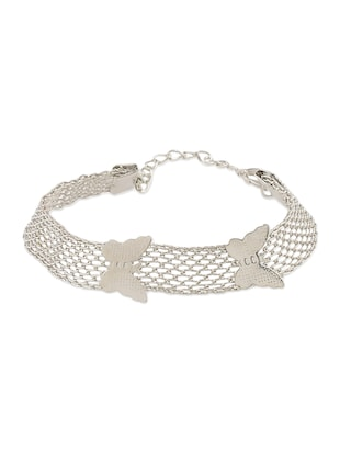 White silver plated bracelet - 12190026 - Standard Image - 2