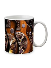 Brown Ceramic Guitar Mug - By
