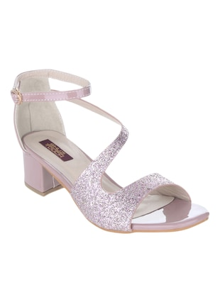 pink synthetic sandal