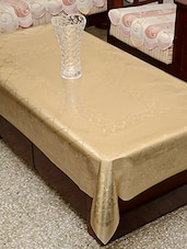 Azalea Aloft 4 Seater PVC Embossed Table Cover , Golden , Pack Of 1 - By - 12213661