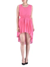 Pink Poly Georgette Dress - By