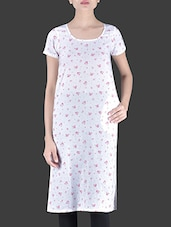 White Printed Cotton Dress - By