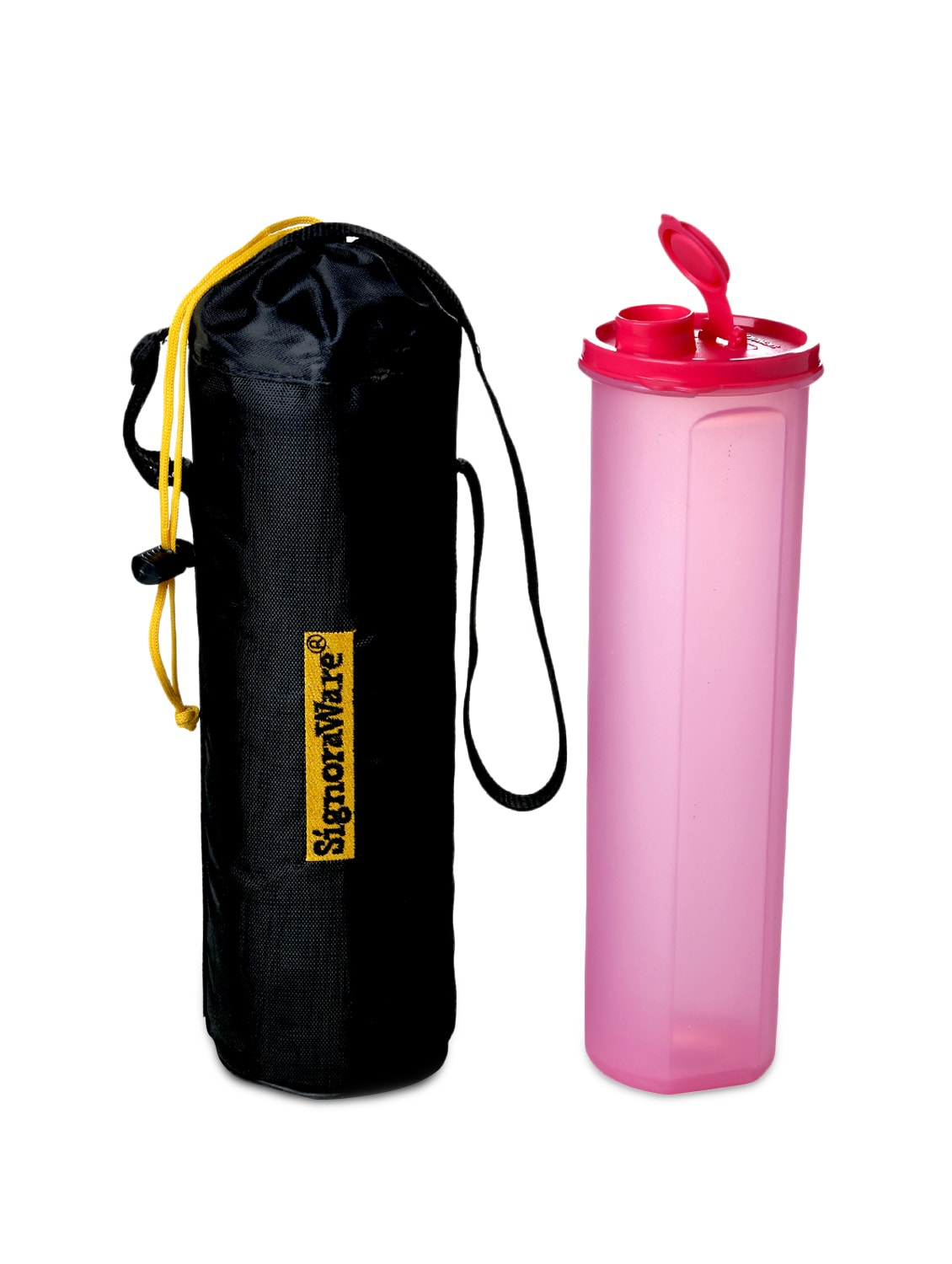 Pink Plastic Bottle And Jug (with Bag) - By