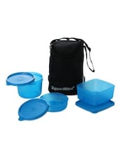 Blue Plastic Trio Lunch With Bag - By
