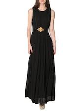 Black Sleeveless Long Dress - LABEL Ritu Kumar