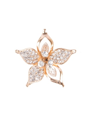 Diva Walk gold alloy brooch