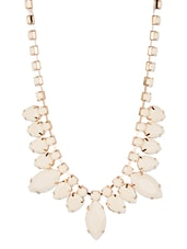 Diva Walk White Alloy Necklace - By