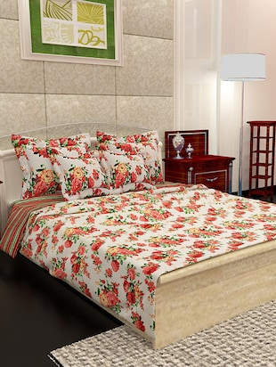 multicolor floral printed cotton bed in a bag