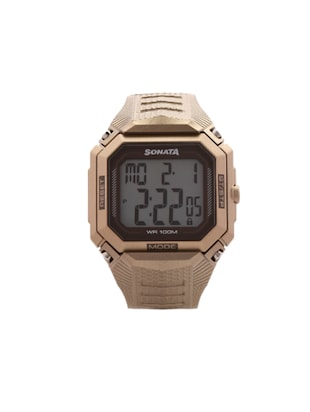 Sonata Digital Grey Dial Touch Watch for Men's 77048PP01 -  online shopping for Digital watches