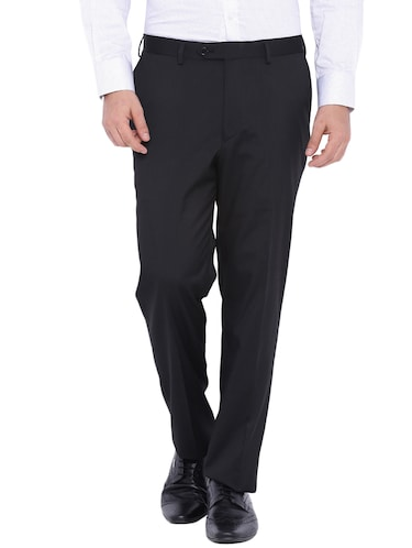9dcc47ff1b4 Buy Black Cotton Formal Trouser for Men from Oxemberg for ₹979 at 30% off