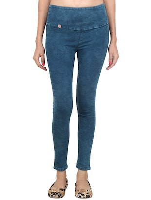 blue denim jegging