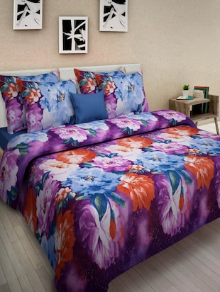 3D Printed Double BedSheet with 2 Pillow Covers