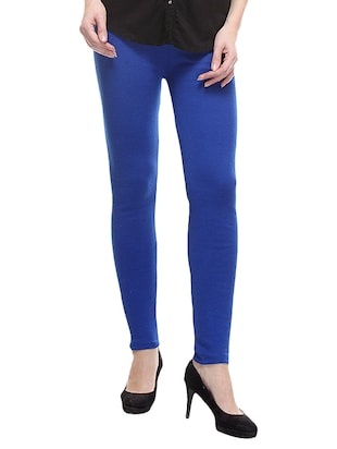 blue woolen legging