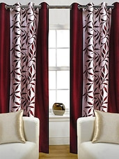 Red Nylon Set Of 2 Door Curtain - By