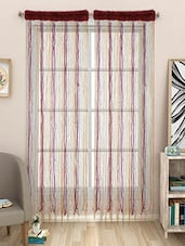 Set Of 2 Pcs String Multi Polyester Door Curtain - By