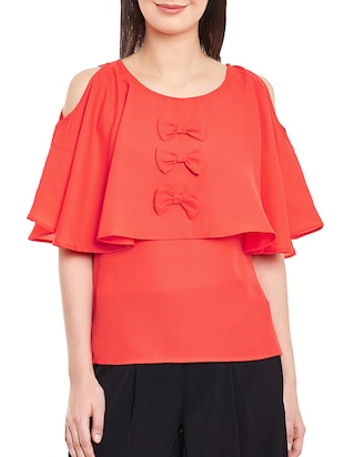 orange none regular top -  online shopping for Tops