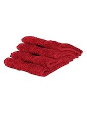 Red Plain Cotton Bath Towel - By